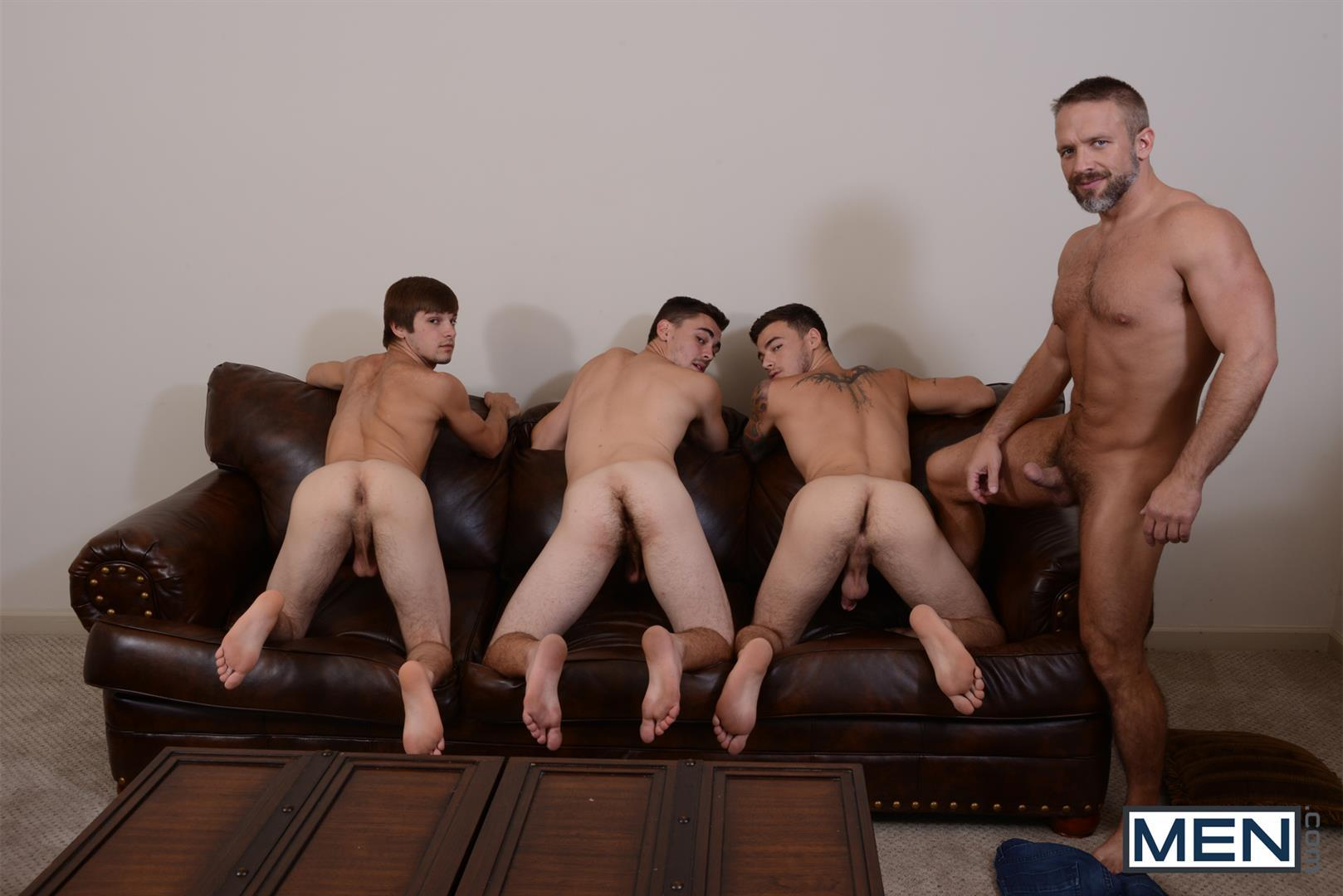 Men Jizz Orgy Asher Hawk and Dirk Caber and Johnny Rapid and Trevor Spade Triple Penetrated In the Ass Amateur Gay Porn 10 Stepfather Dirk Caber Gets TRIPLE Penetrated By His Stepsons