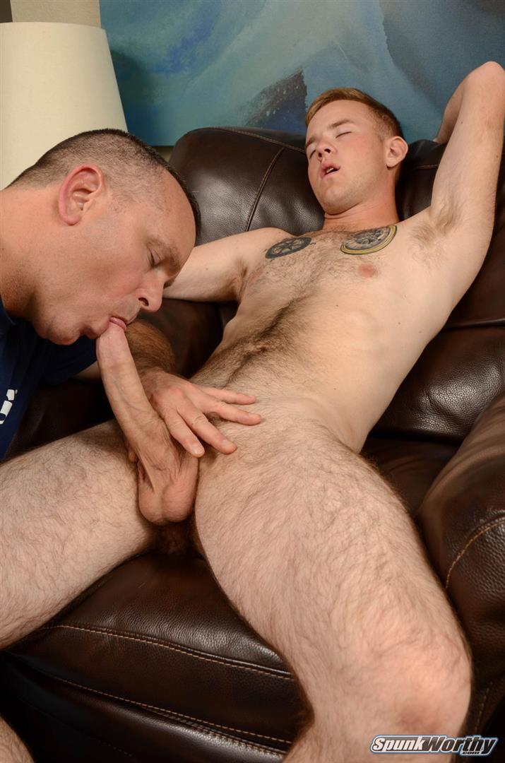SpunkWorthy-Koury-Marine-Gets-A-Blow-Job-and-Rimming-Amateur-Gay-Porn-06 Straight Hairy Marine Gets His Big Cock Sucked and Ass Rimmed