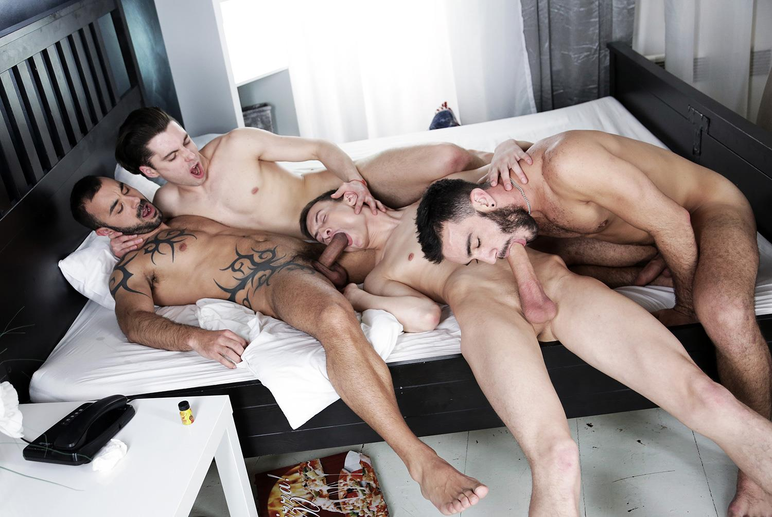 gay blow job double penetration